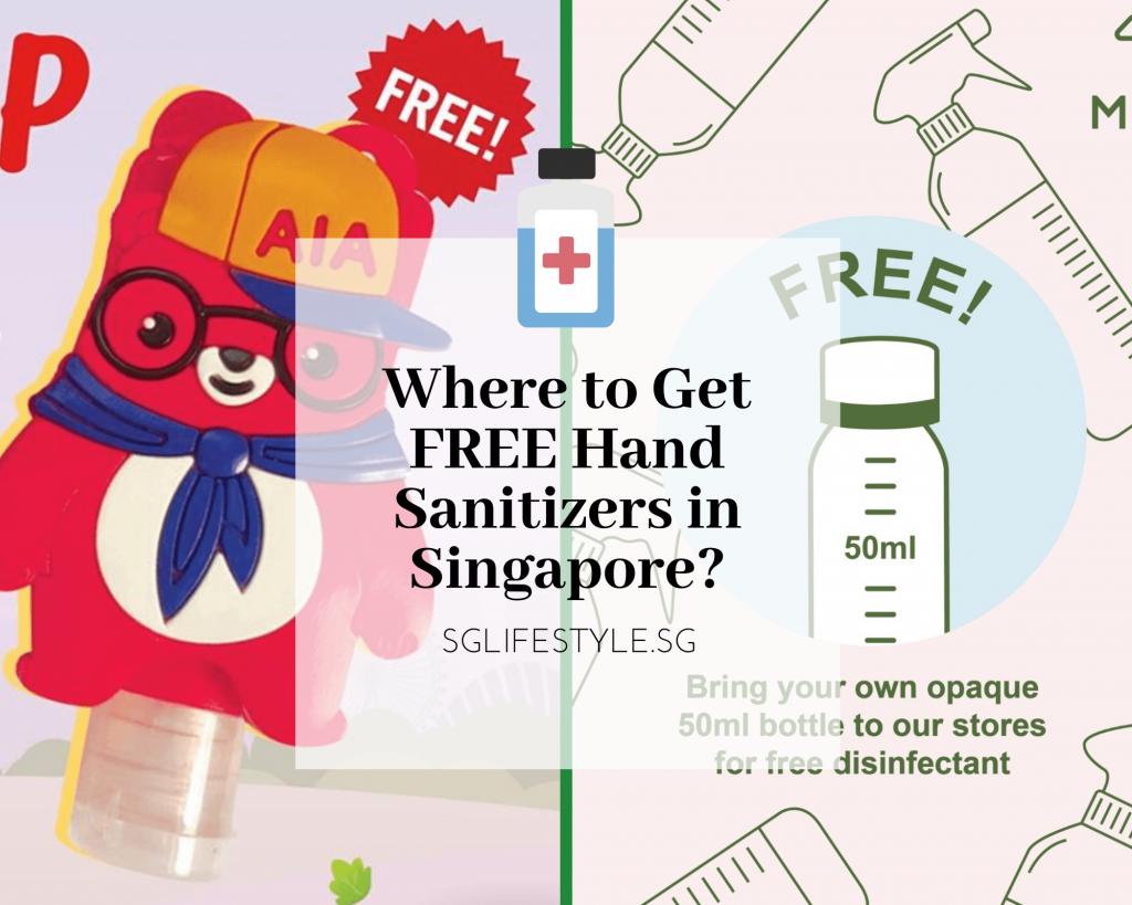 free hand sanitizer singapore