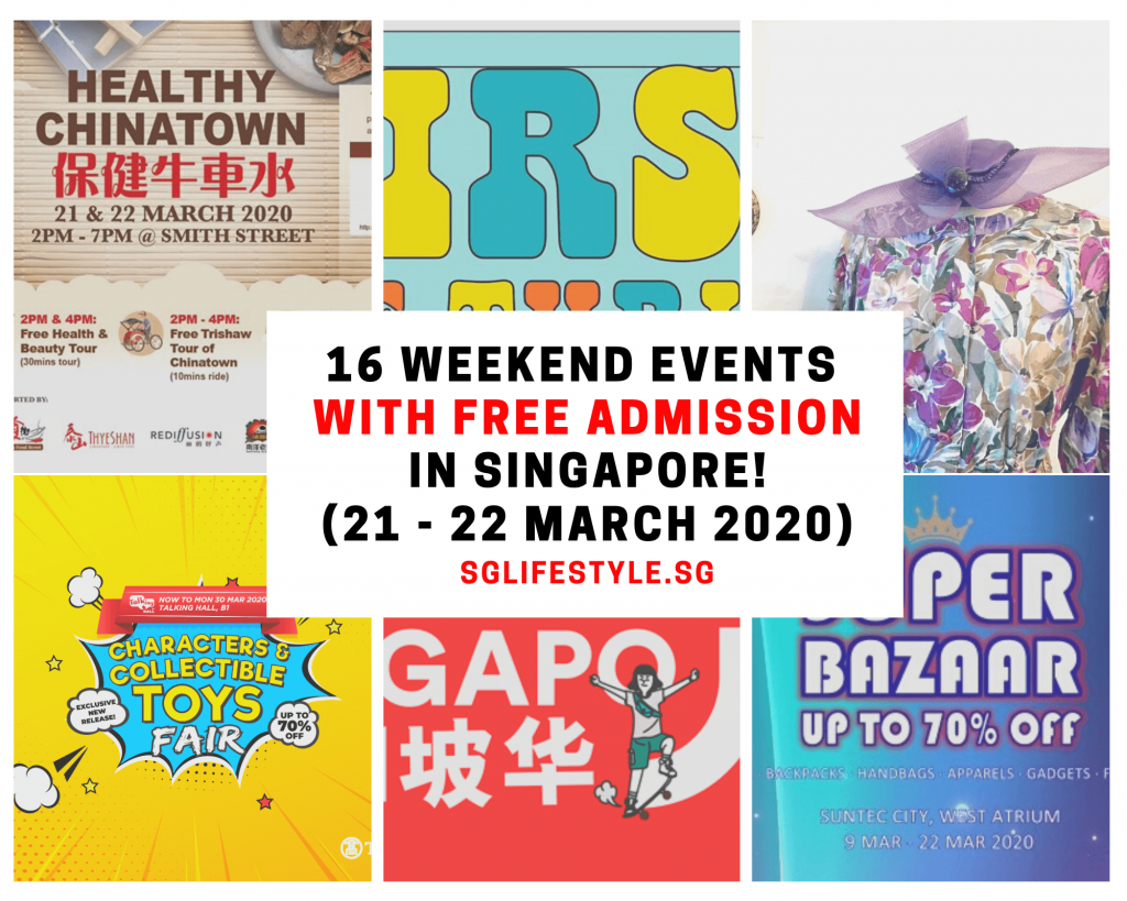 singapore events march 2020 free admission